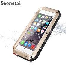 Снегозащитный чехол для iphone 5 s противоударный водонепроницаемый Мощная защита алюминиевый Gorilla glass металлический чехол для iphone 5S, se