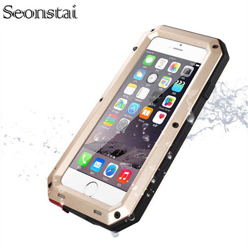 Snowproof Case For iphone 5 s Shockproof Waterproof Powerful Protection Aluminum Gorilla Glass Metal Cover For iPhone 5s SE