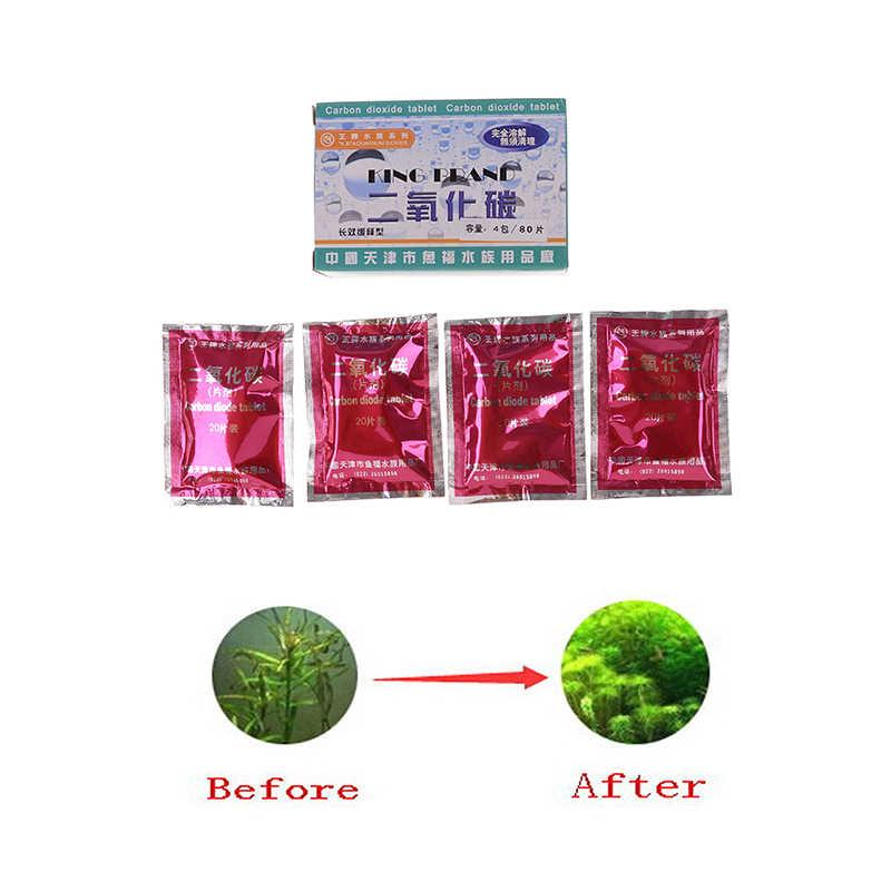80 шт аквариум СО2 планшет углекислый газ для растений аквариум водный диффузор трава высокое качество водяные сорняки орнамент