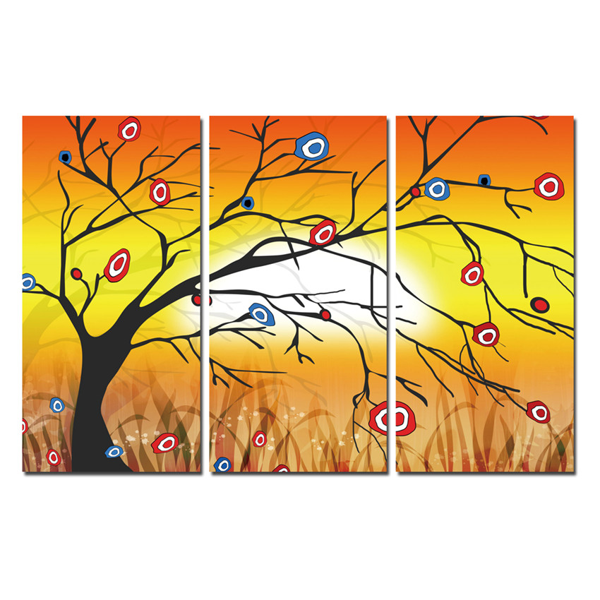 Online buy wholesale tree scenery pictures from china tree - Decoration murale contemporaine ...