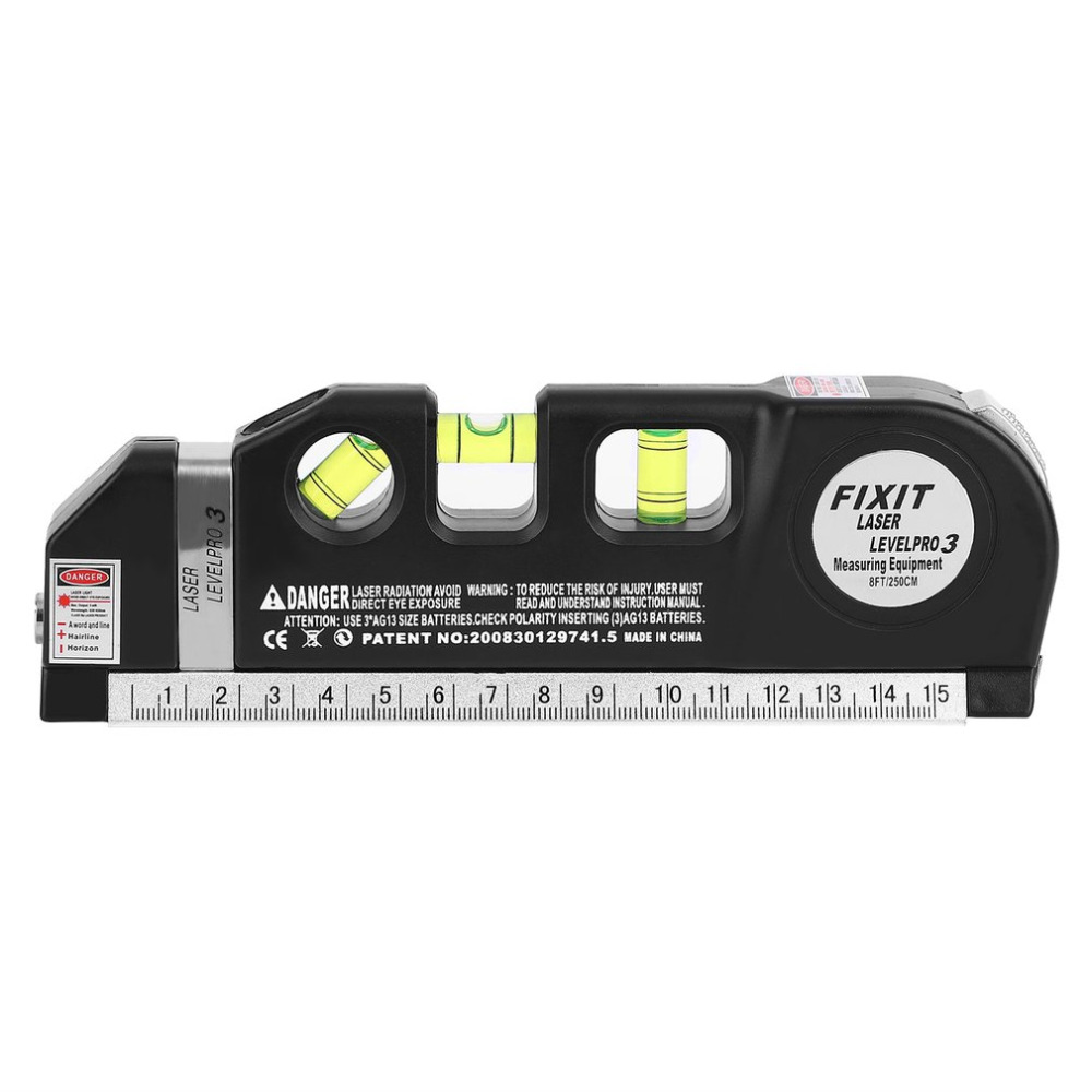 ACEHE 2018 Accurate Laser Level Cross Projects Horizontal Vertical Laser Light Beam Level Laser with Measure Tape Multipurpose elecall em5416 200 high quality multipurpose level with bubble laser horizon vertical measure tape the horizontal ruler
