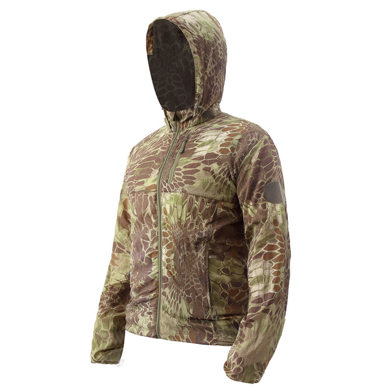 Multicam Tropic Camo Hunting Jacket MTP Ripstop Field Hunting Jakcet MTP for Outdoor Hunting Jacket with Hoody in Hunting Ghillie Suits from Sports Entertainment