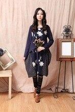 rockabilly knitted roupa jurken autumn blusas feminino linen vintage tunique kawaii retro hippie moda plaid harajuku