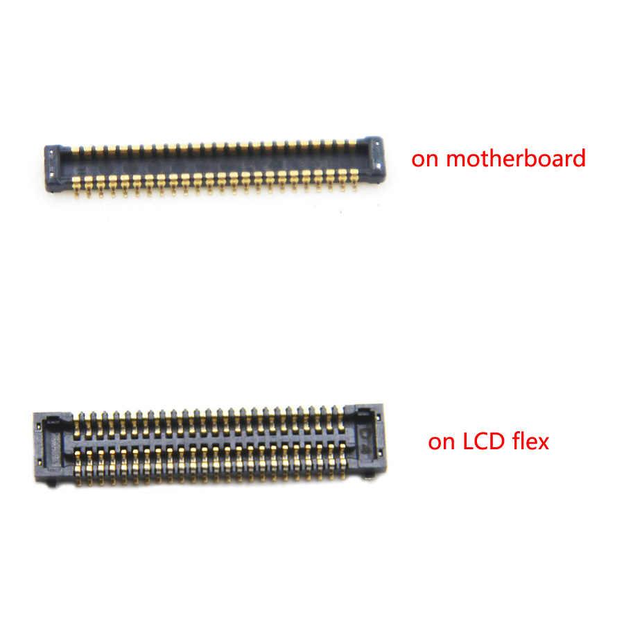 2 قطعة/الوحدة FPC موصل سامسونج غالاكسي S7 حافة G935 G935F شاشة الكريستال السائل موصل الشاشة على اللوحة الرئيسية اللوحة الرئيسية الكابلات المرنة
