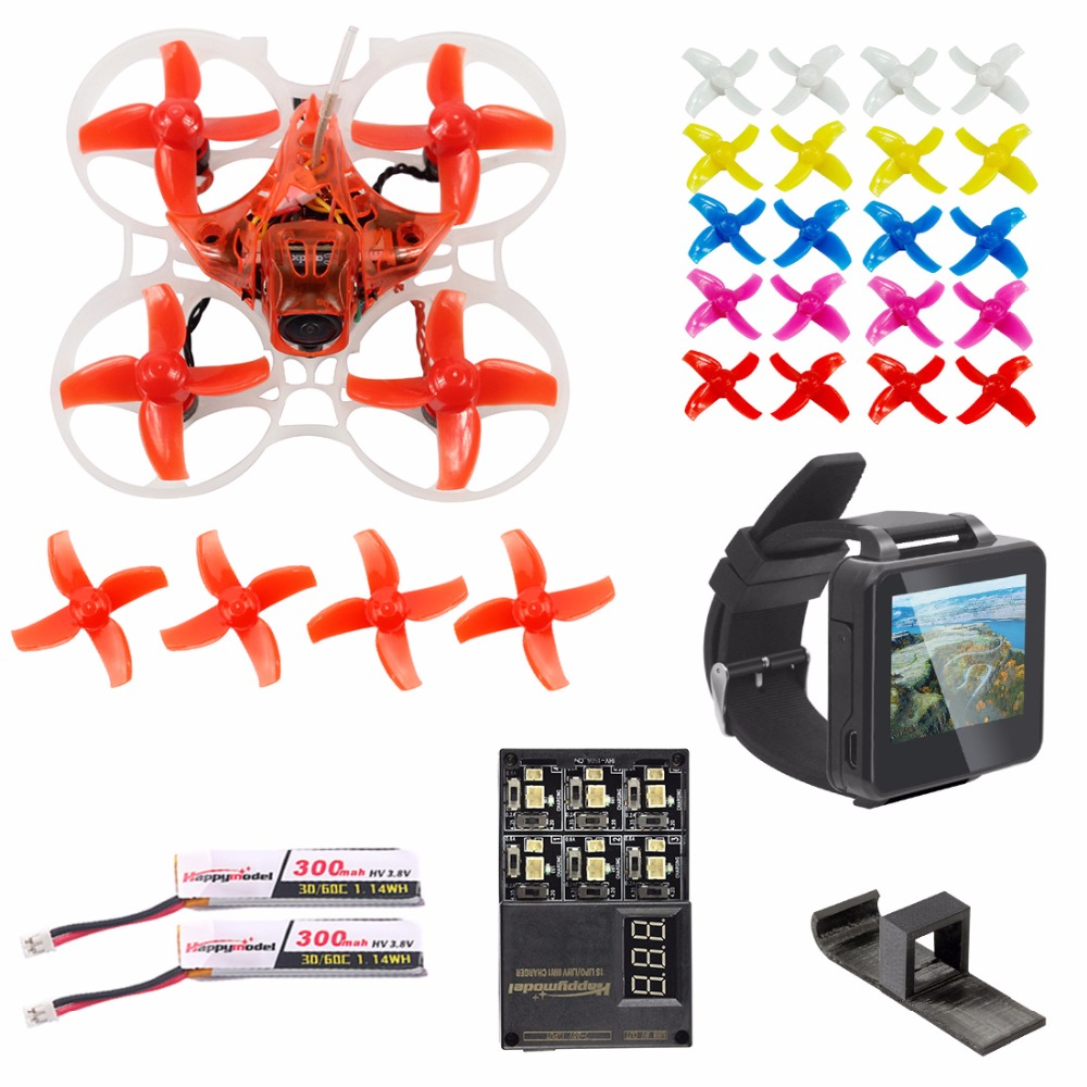 Upgrade 75mm V3 Crazybee F4 Pro OSD 2S FPV Watch / Goggles RC Racing Drone Caddx Eos2 Camera 25/200mW VTX & RC Training Parts