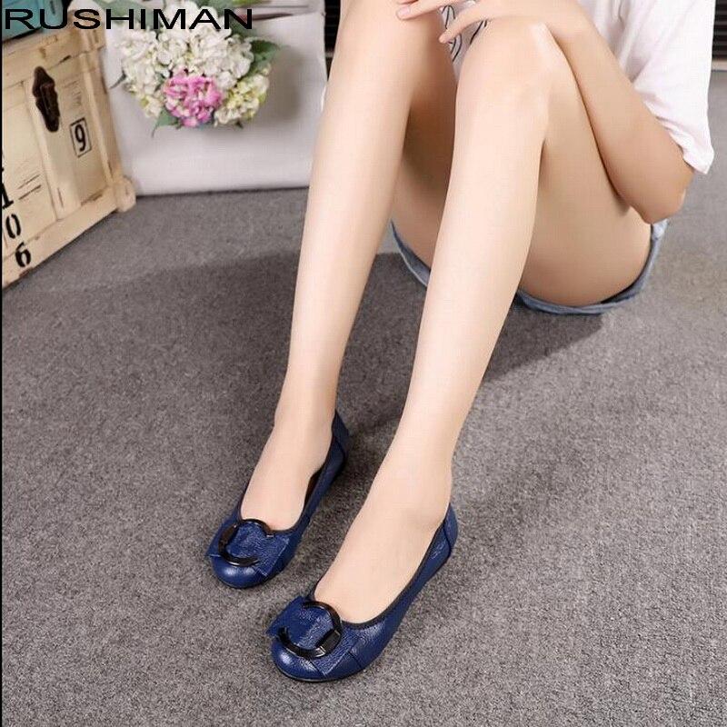 Women Loafers Women Genuine Leather Flat Shoes Woman Casual Nurse Work Shoes Comfortable Women Flats 5 colors