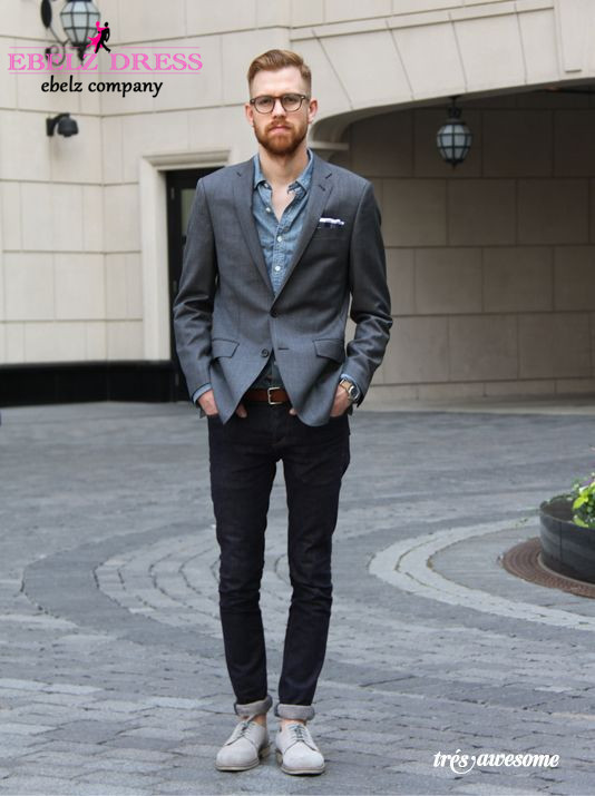 Gray Suit Casual - Go Suits