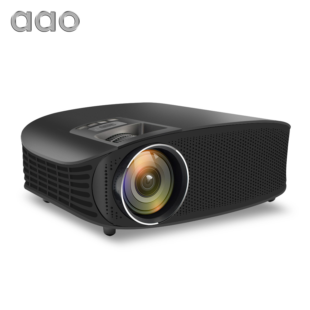 AAO YG600 Atualização YG610 HD Projetor 3600 Lumens Com Fio Tela Multi Home Theatre Beamer HDMI USB VGA Exibição de Sincronização de Vídeo projetor