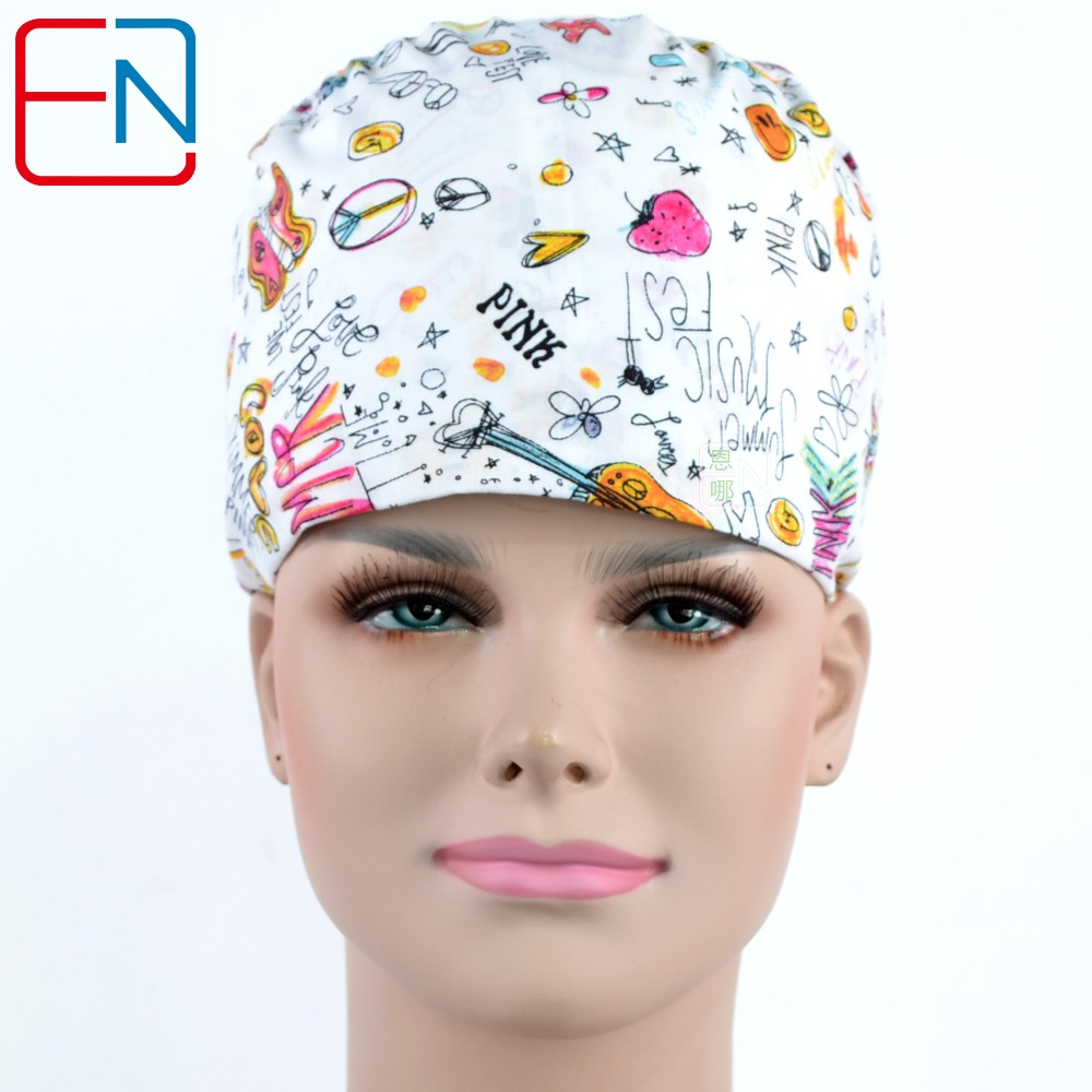 Hennar Medical Scrub Caps With Sweatband Surgical Caps Hospital Adjustable Medical Caps Scrub Lab Clinic Operation Accessories