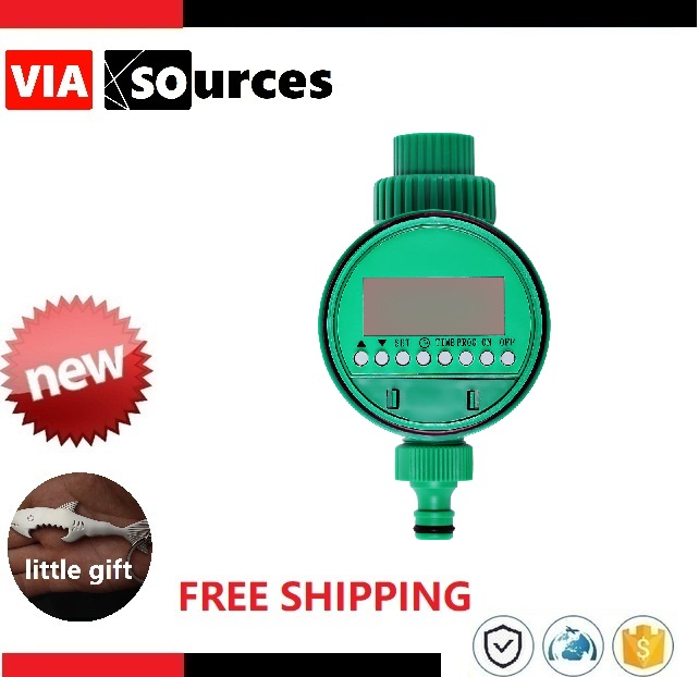 Automatic Electronic Water Timer Garden Irrigation Controller Solenoid Valve Digital Intelligence Watering System LCD Display