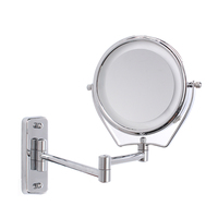 6 Inch Double Side Led Illuminated Magnifying Bathroom Shaving Shower Mirrors 7x Makeup Cosmetic Mirror Wall Mounted With Light
