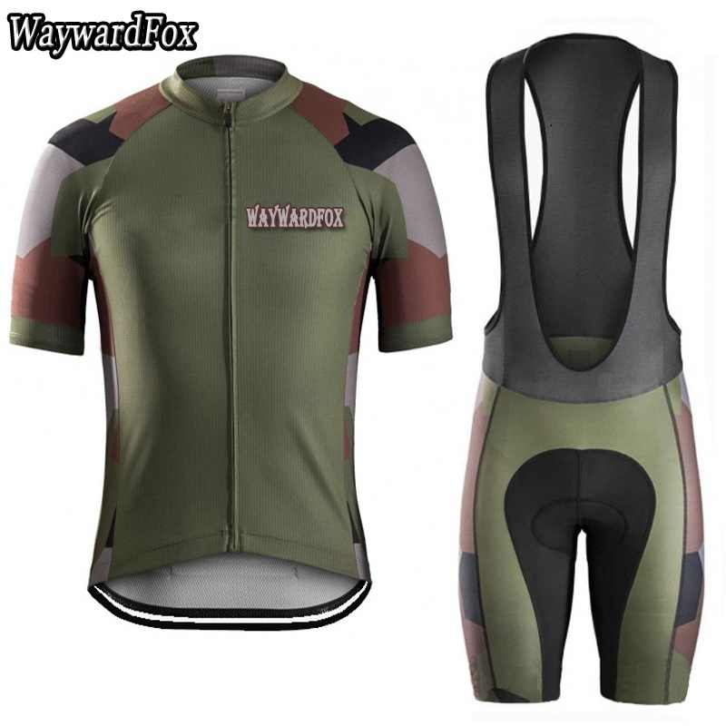 2d47a585e 2017 Man Camouflage cycling jersey Set Short Sleeve cycling clothing Short  Sleeve Riding clothes suit bike