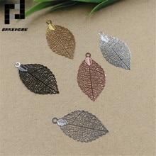 BASEHOME 20 шт./лот подвеска в форме полого листочка амулеты Винтаж металлический лист ювелирных изделий для DIY модное ожерелье для женщин
