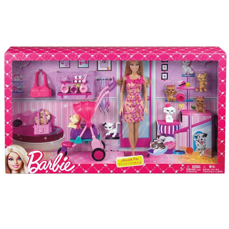 Originele Barbie Pop Speelgoed Prinses Barbie Huis Kleding Jurk ...