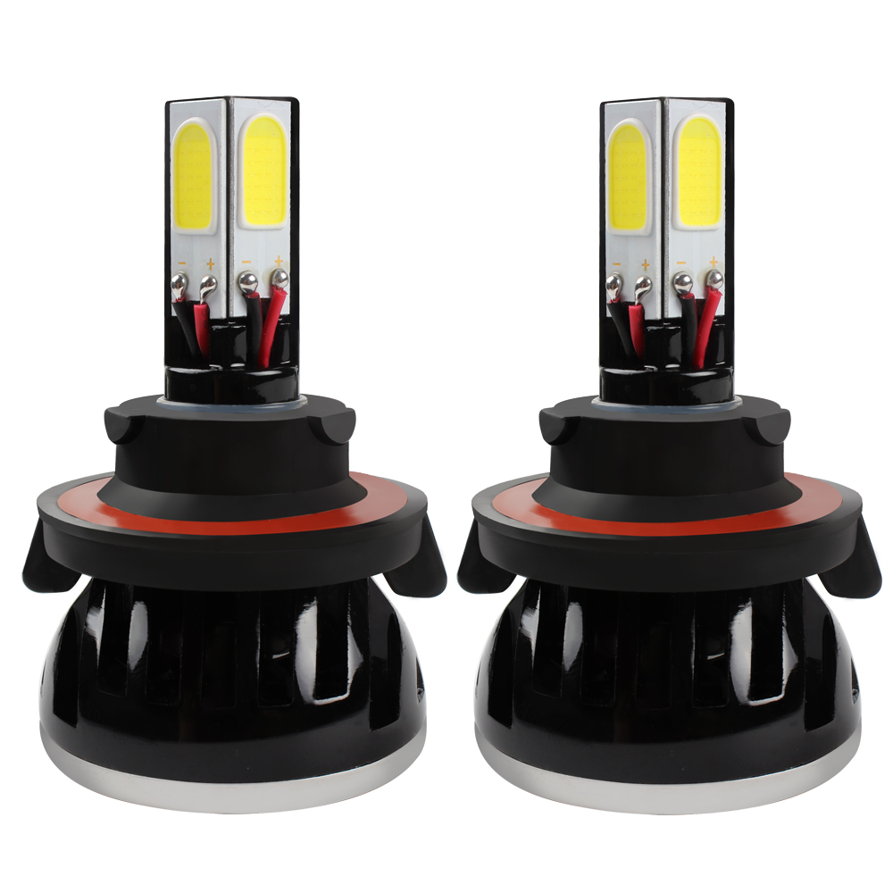 ФОТО G5 H13 LED Headlight Pure White Car Head Light Automobile High Low Beam Car-styling H1 H3 H4 H7 H11 HB4 Lamp With Fan #HP