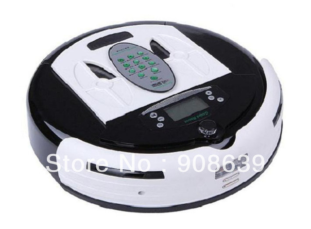 Free Shipping 4 In 1 Newest Multifunctional Wet&Dry Moping Intelligent Robot Mop Cleaner+0.7L Rubblish Box+LCD+Dirt Detect