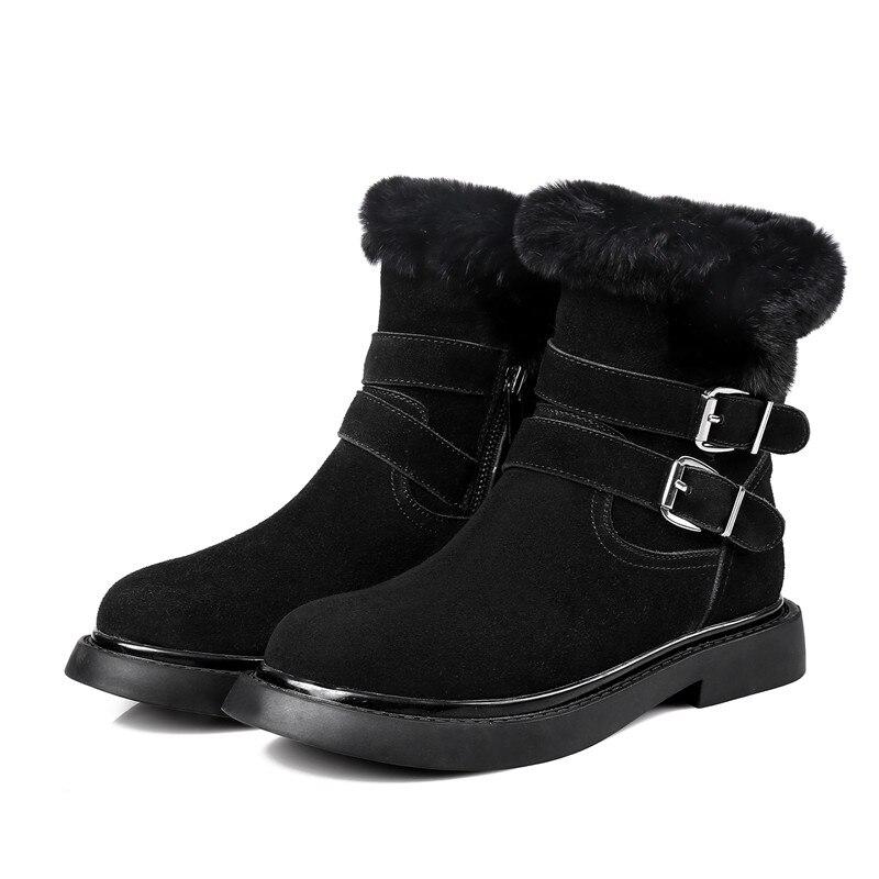 De Casual Caliente Tobillo Nueva gris Cuero Con Mujeres Redonda 2018 Punta Invierno Smirnova Piel Plataforma Zapatos Oscuro La Mantener Llegada Negro Nieve Botas w5xvqI8nfZ