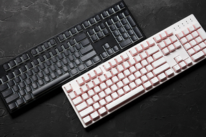 Image 3 - pudding pbt doubleshot keycap oem back light  mechanical keyboards milk white pink black gh60 poker 87 tkl 104 108 ansi  iso