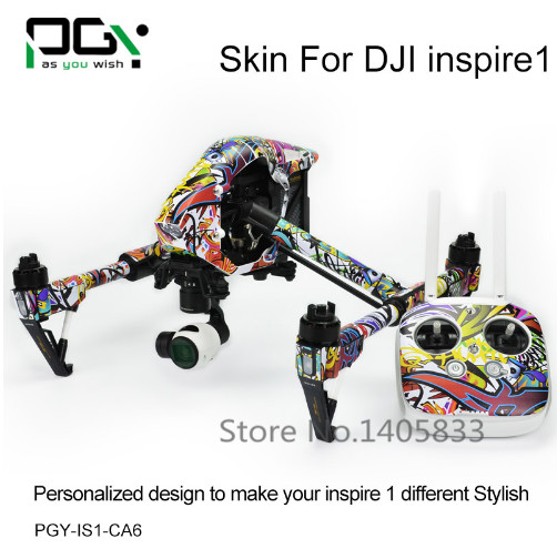 PGY-IS1-CA6 DJI Inspire 1 Accessories Sticker for DJI inspire1 RC Protective 3M Skin film Cover Case Skin Decal drone Wrap Sheet