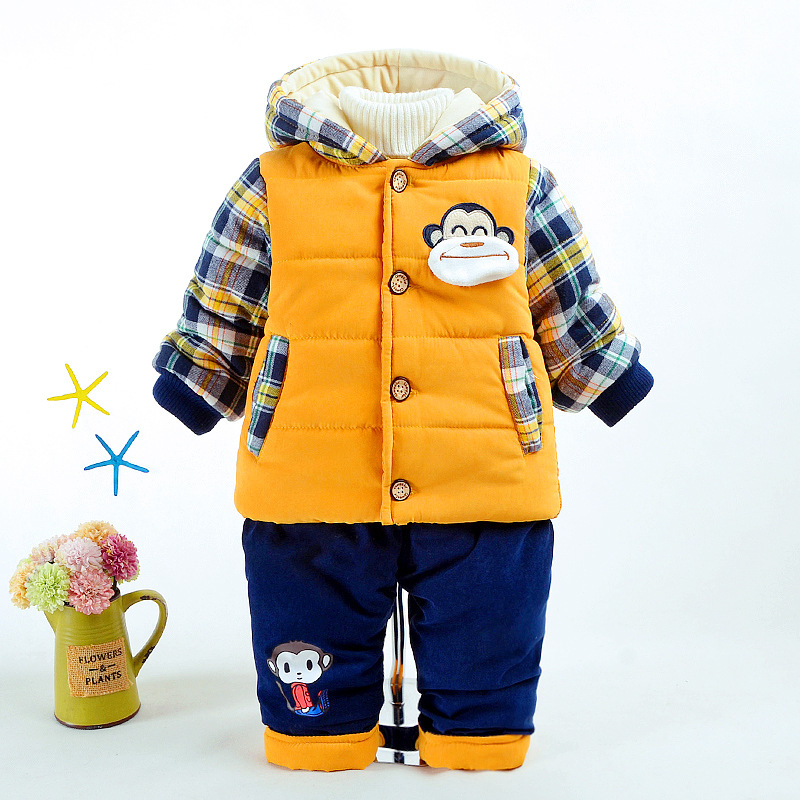 Baby Boys Jacket Cute Monkey Winter Warm Coat Children Outerwear for Boy Kids Clothes Cotton Thick Hoodies Boy Clothing In StockBaby Boys Jacket Cute Monkey Winter Warm Coat Children Outerwear for Boy Kids Clothes Cotton Thick Hoodies Boy Clothing In Stock