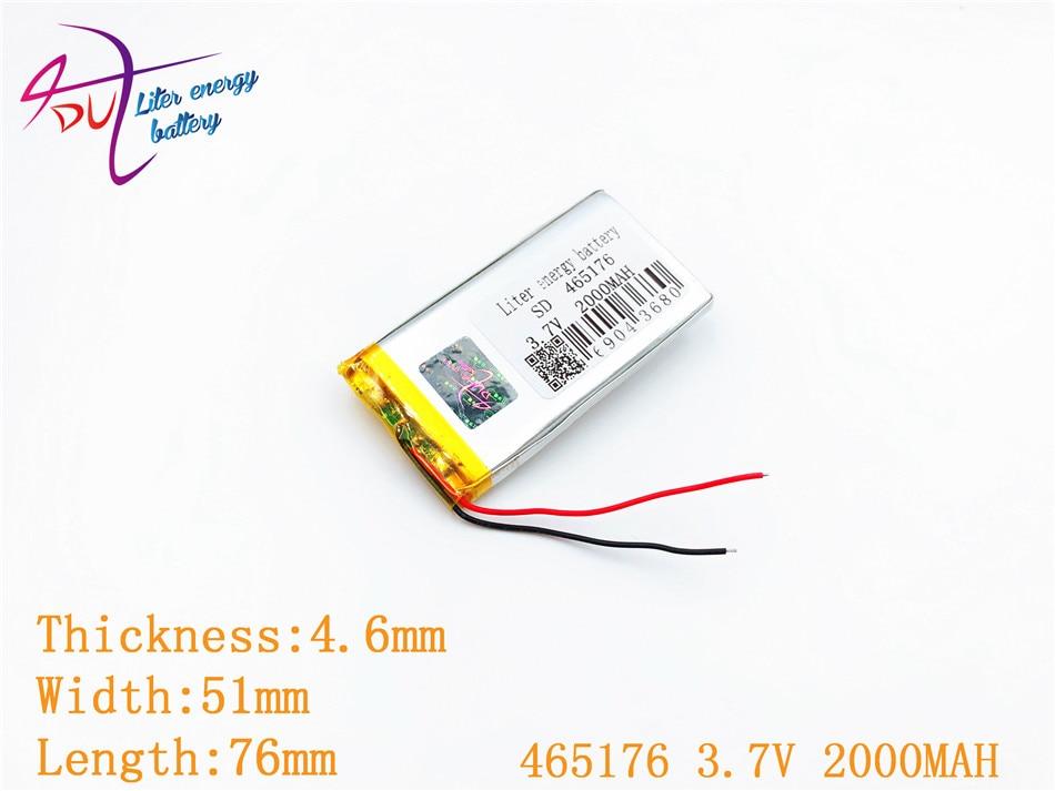 1 Stücke [sd] 465176 3,7 V, 2000 Mah 455075 Polymer Lithium-ion/li-ion Batterie Für Spielzeug, Power Bank, Gps, Mp3, Mp4, Handy, Lautsprecher