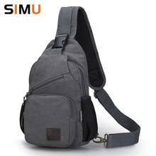 High Quality Vintage Chest Bag Canvas Men Sling bag Big Capacity Handbag Casual Shoulder Bag Hot Selling Crossbody Bag 2 Size