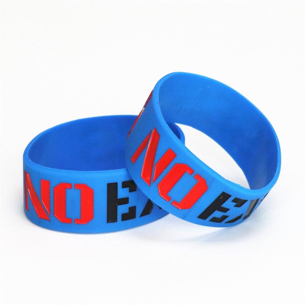 1 Stück Mode Keine Ausreden Silikon Armbänder & Armreifen Blau Breite Sport Aktivitäten Gummi Armband Erwachsene Schmuck Geschenk Sh076