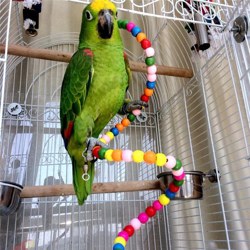 Pet Bird Parrot Rotate Ladder Climbing Cockatiel Parakeet Budgie Cage Chew Toy Large Assortment Pet Products