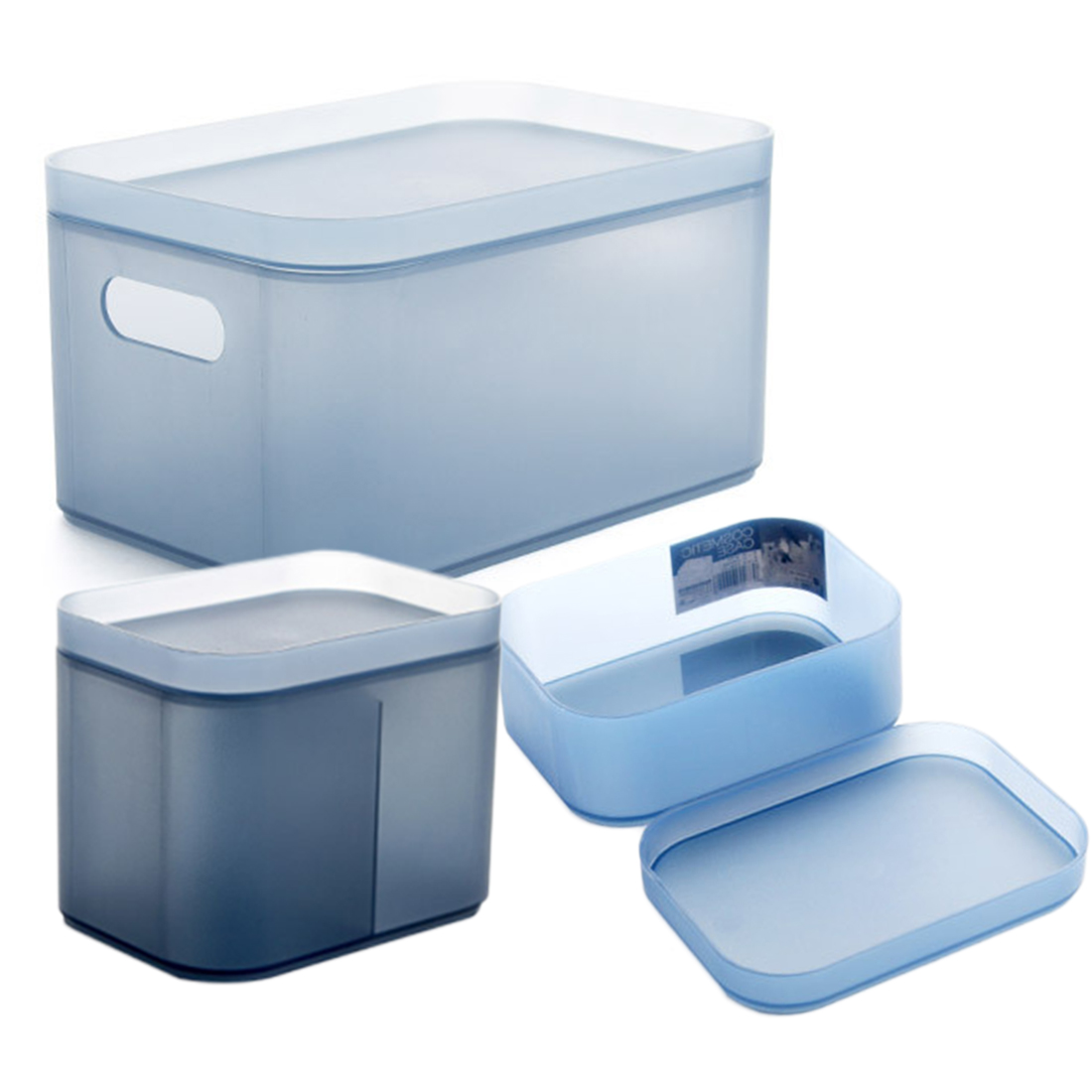 HIPSTEEN 3Pcs/lot Clothing Storage Bins Thickened Plastic Storage Boxes  Home Sundries Organizer Clothes Container Set