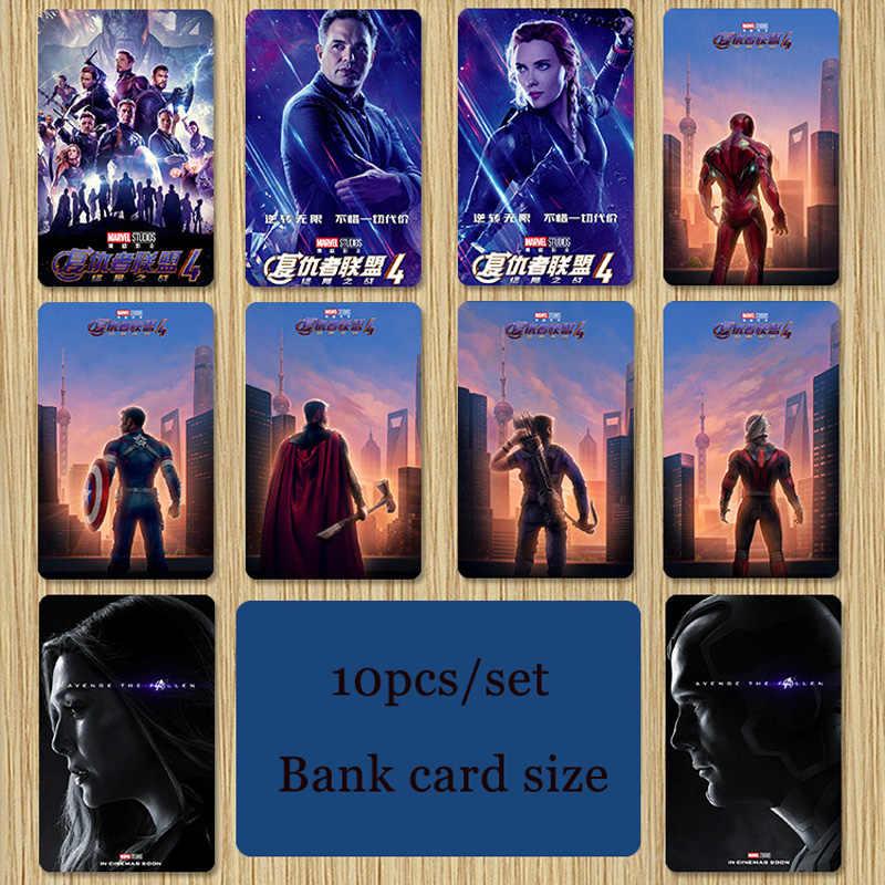 Marvel Avengers 4 Endgame Iron Man Surprise Captain Wolverine Spider-Man Lightning Raytheon Bus Bank ID-kaart Card Sticker