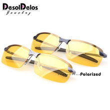2019 New Yellow Lense Night Vision Driving Glasses Men Polar