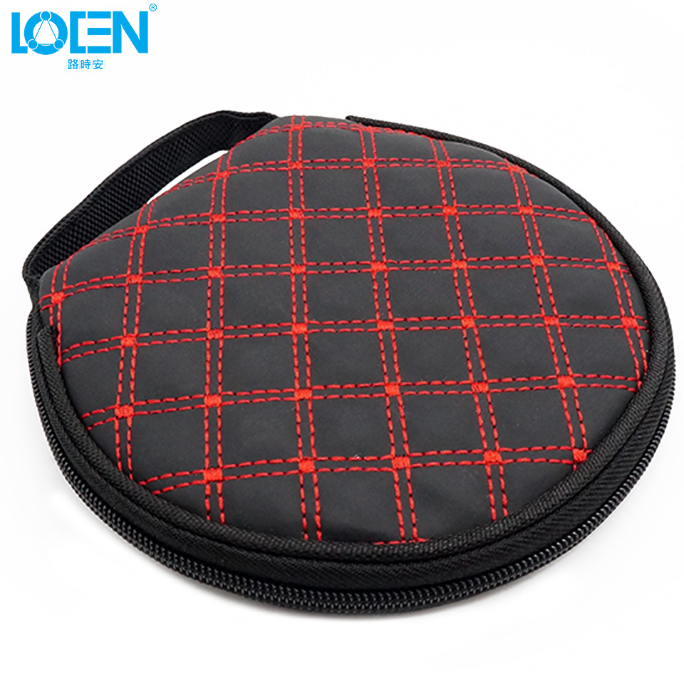 LOEN 1PC PU leather waterproof 20 Disc zipper CD Holder pocket DVD Case Storage Bag DJ cover white black for Home car