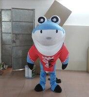 Профессиональный синий Shark ростовая кукла костюм взрослые размер необычные Dres особое одежда