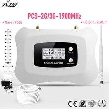 Volledige Intelligente 2G 3G 1900mhz PCS mobiele Signaal Booster versterker met LCD voor thuisgebruik 3G mobiele Telefoon Signaal Repeater kit