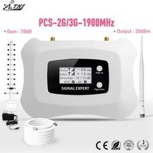 W pełni inteligentny 2G 3G 1900mhz sztuk wzmacniacz sygnału komórkowego z LCD do użytku domowego 3G repeater sygnału telefonii komórkowej zestaw