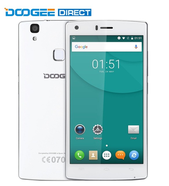 Original DOOGEE X5 МАКС 5.0 дюймов 3 Г Смартфон Android 6.0 MTK6580 Quad Core 1 ГБ RAM 8 ГБ ROM Датчик Отпечатков Пальцев сен