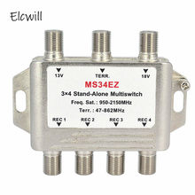 3 In 4 Out 3X4 Satelliet Multischakelaar Splitter Fta Tv Lnb Switch Cascade Satelliet(China)