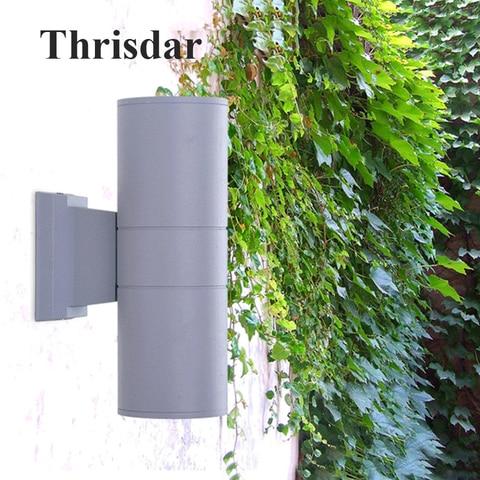 thrisdar iluminacao exterior 10 w 18 w 24 w dual cabeca do cilindro led porch