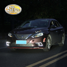 SNCN LED Daytime Running Light For Nissan Sentra Sylphy 2016 2017,Car Accessories Waterproof ABS 12V DRL Fog Lamp Decoration