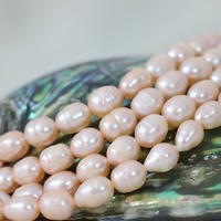 Orange Natural Freshwater Cultured Pearl Loose Beads 7 8mm Approx Rice Fashion Diy Women Elegant Jewelry