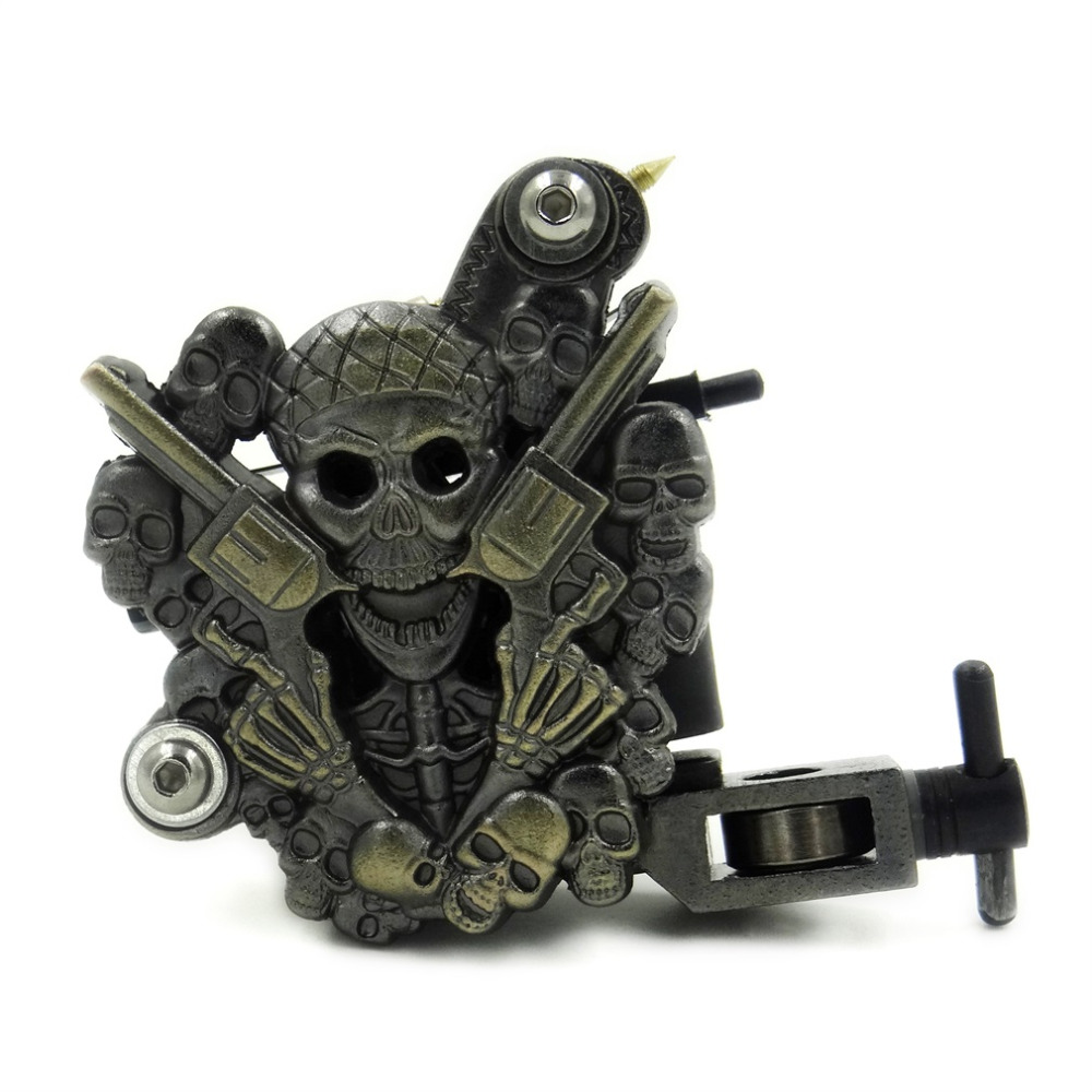 1pc High Quality Empaistic Skull Tattoo Machine Gun for