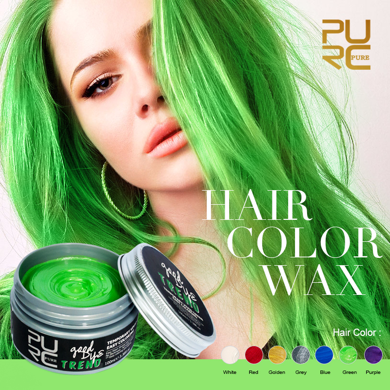 2018 Hot Sales New Products Good Dye Hair Color Hair Dye Wax for Crazy Party Carnival Double 11 Holiday Beautiful Make Up