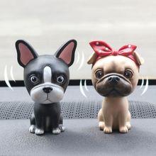 Собака качающаяся голова украшения фигурки из ПВХ, куклы каваи украшения автомобилей Интерьер приборной панели кивая игрушки аксессуары