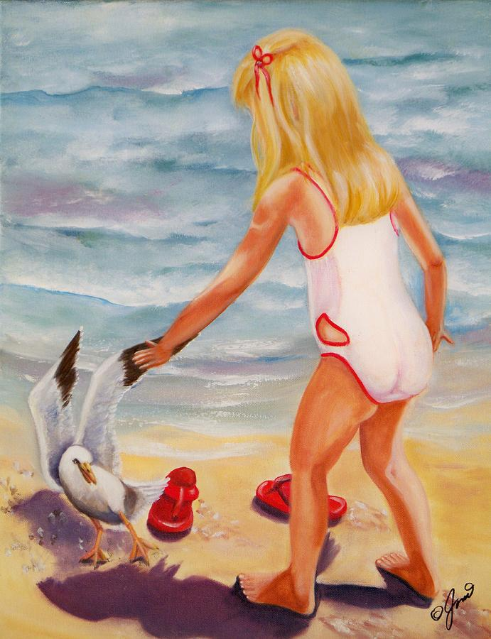 High quality Oil painting Canvas Reproductions A Day at the Beach By Joni McPherson hand paintedHigh quality Oil painting Canvas Reproductions A Day at the Beach By Joni McPherson hand painted