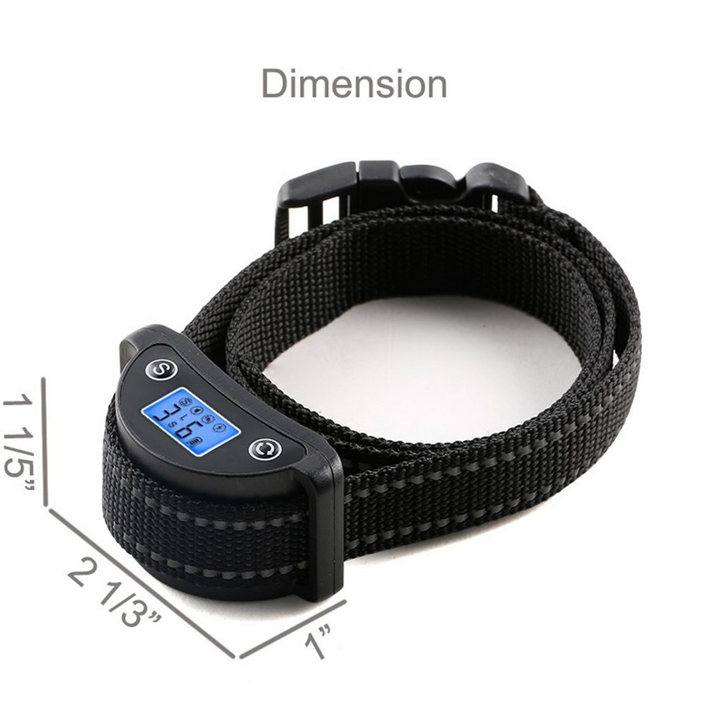 LCD Screen Automatic Dog Anti Bark Collar For Small Medium And Large Dogs Training with Reflective Belt Rechargeable Waterproof LCD Screen Automatic Dog Anti Bark Collar For Small Medium And Large Dogs Training with Reflective Belt Rechargeable Waterproof