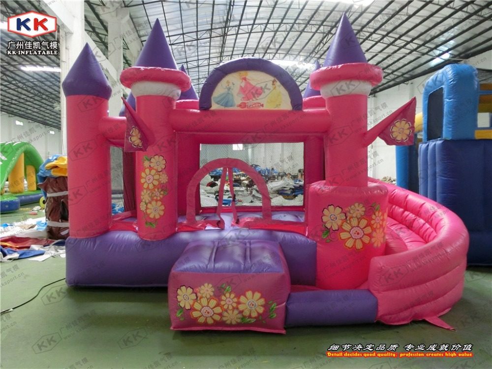 Inflatable Pink Castle Princess Inflatable Castle Bouncer small size inflatable combo for family party or kindergarten inflatable small bouncer for ocean balls indoor structures inflatable toys for kindergarten inflatable mini bouncer