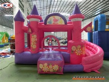 Inflatable Pink Castle Princess Inflatable Castle Bouncer small size inflatable combo for family party or kindergarten
