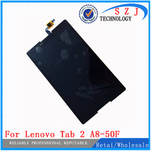 "Nuevo 8 ""pulgadas Para Lenovo Tab 2 Tab2 A8-50F A8-50LC A8-50 PC de la tableta de la Pantalla Táctil + Ensamblaje de la Pantalla LCD Piezas de la caja del Envío gratis"