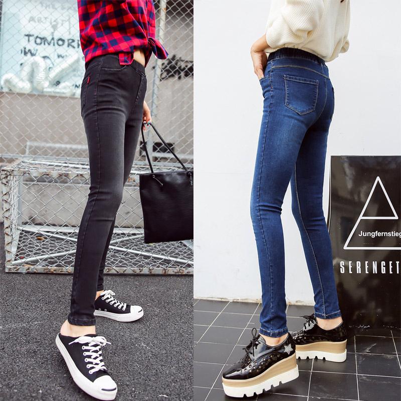 BIVIGAOS Basic Skinny Womens Jeans Ankle Pencil Pants Slim Elastic Denim Pants Jean Leggings Female Cotton Jeggings Jeans Women 58