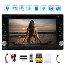En el tablero de Doble LCD de 2 din Pantalla Táctil de Coches reproductor de DVD del coche de Audio Bluetooth, negro Windows 6 Ui Diseño Del Envío Antena GPS + Mapa libre DEL GPS